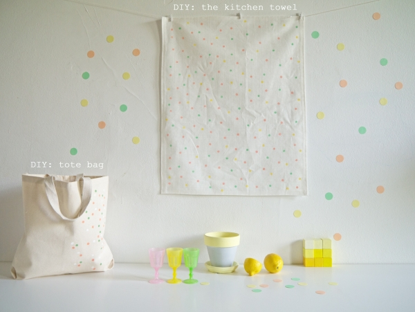 DIY kitchen towel & tote bag-0