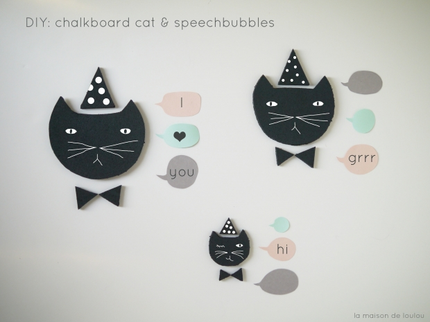 DIY free Template chalkboard cat & speechbubbles by La maison de Loulou blog-1
