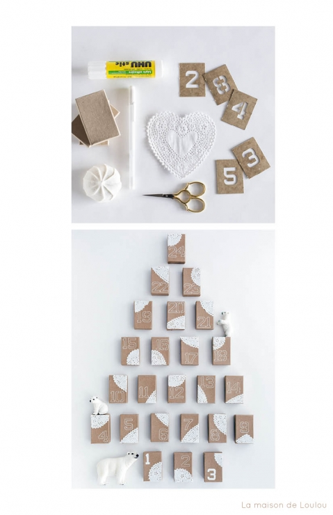 DIY Advent Calendar by La maison de Loulou tutorial
