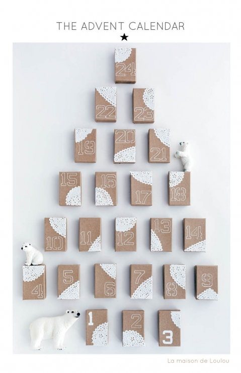 DIY Advent Calendar by La maison de Loulou