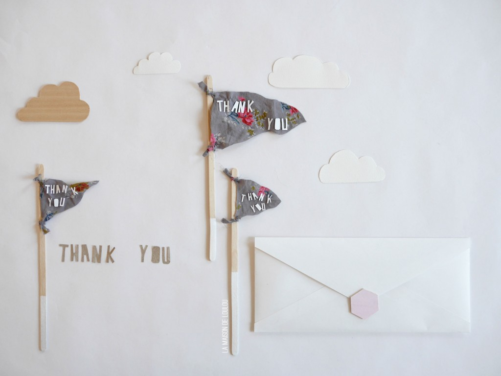 DIY Thank you flag card by La maison de Loulou