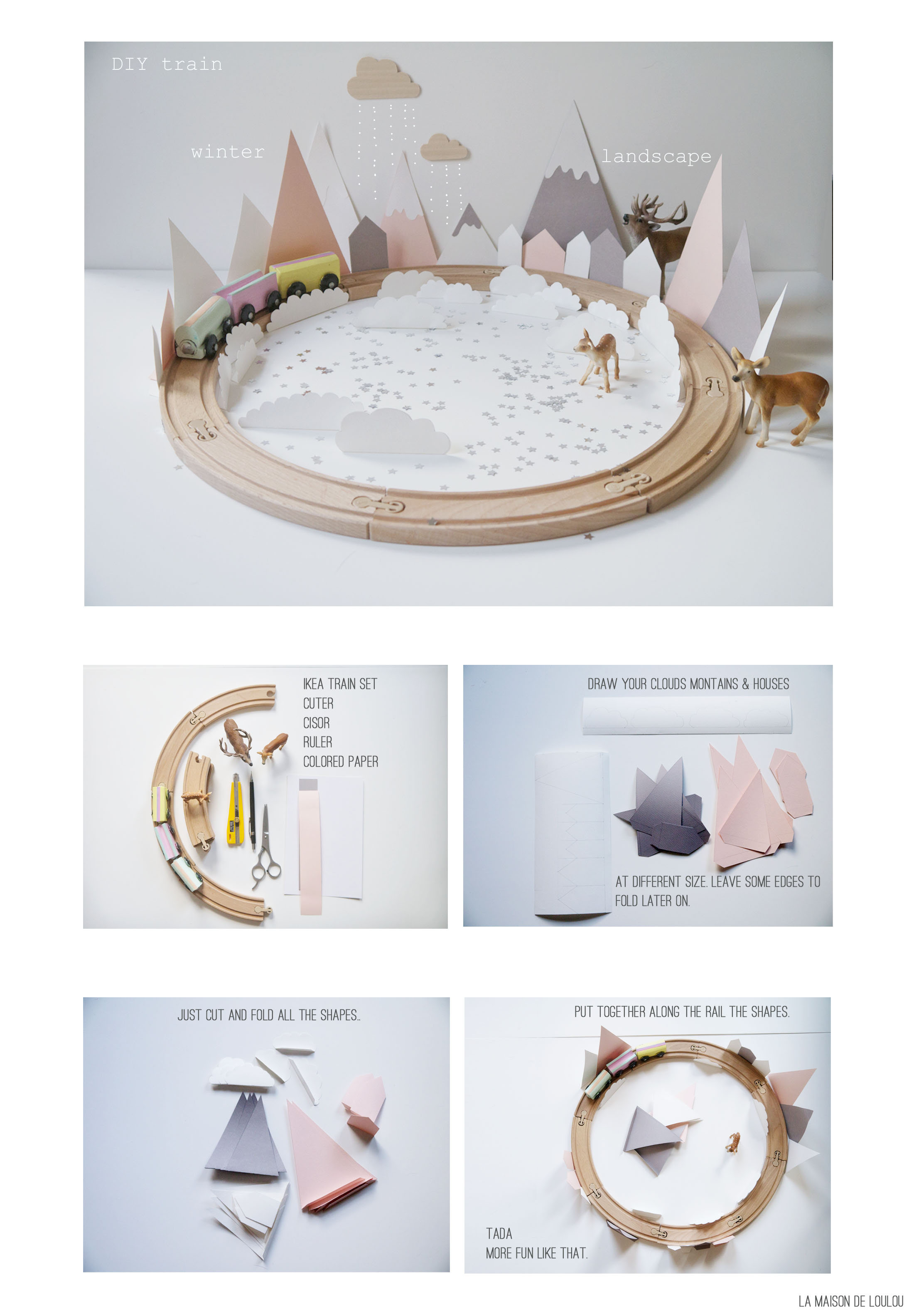 DIY winter train 2014 by La maison de Loulou