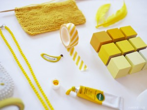 Yellow cubes inspiration by La maison de Loulou