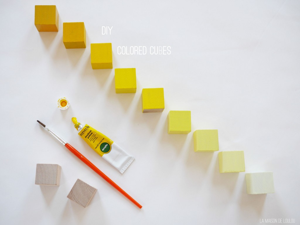 Yellow cubes DIY by La maison de Loulou