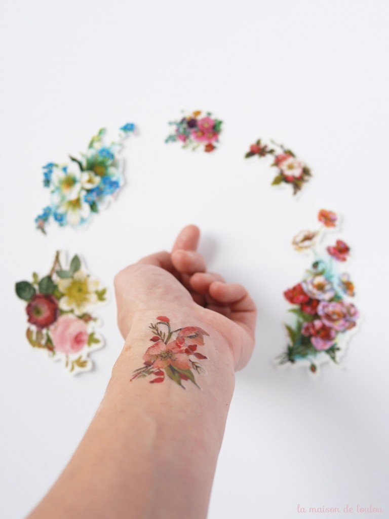 vintage floral tattoo presented by la maison de Loulou