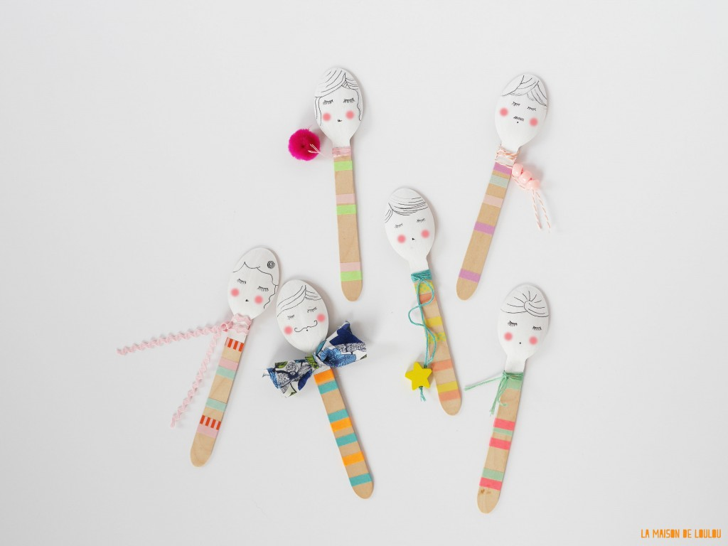 DIY spoon muppets by La maison de Loulou