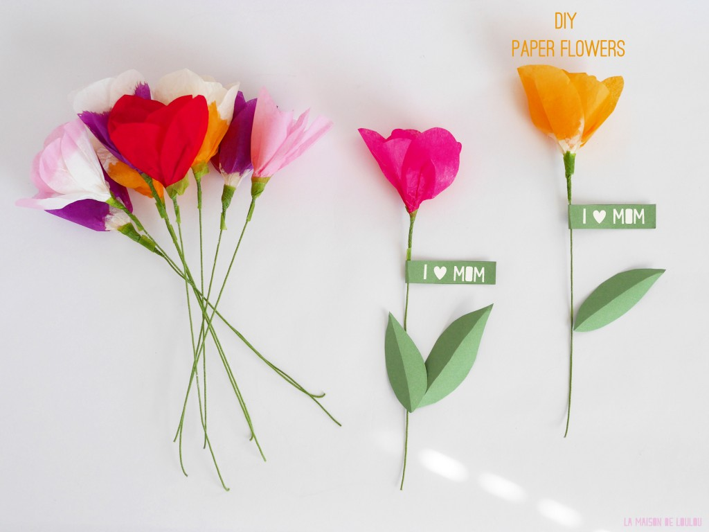 tissue paper flowers Now let's fold some flowers you'll need 4 sheets of tissue paper to make each flower: 2 large sheets (same size) and 2 small sheets (same size, about half the width.