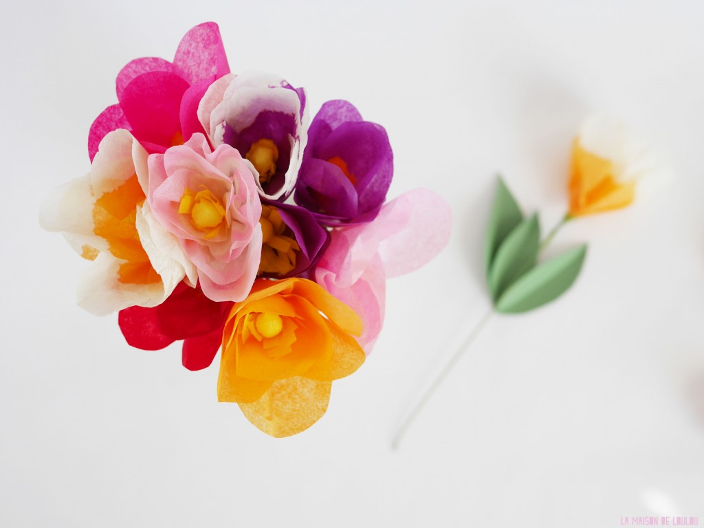 Mother's day DIY part 1 Tissue Paper Flowers