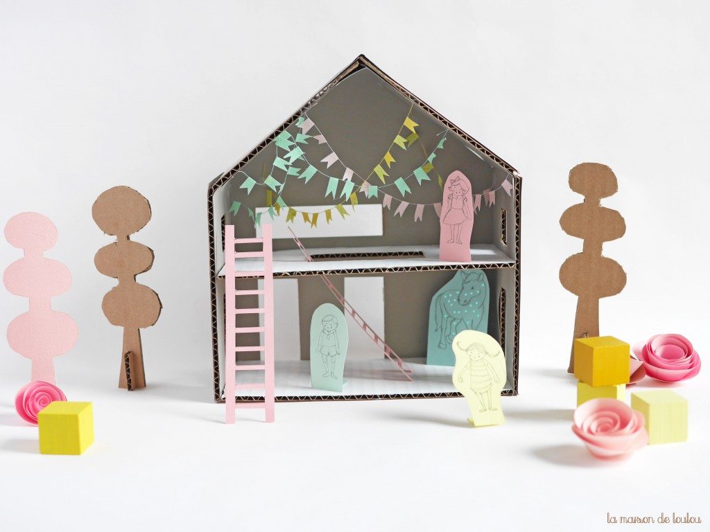 DIY Pippi Longstocking free house template & characters by La maison de Loulou for Les Enfants Terribles Mag