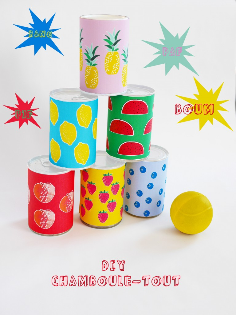 DIY + Free download of the chamboule-tout game by La maison de Loulou for Doolittle magazine