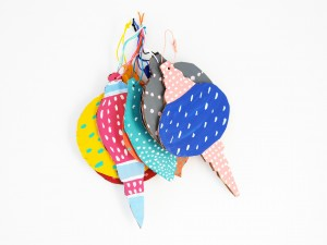 Handmade painted Cardboard ornaments by LA MAISON DE LOULOU