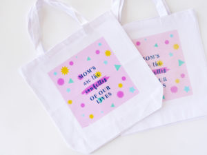 Mother's day tote bag & free printable by LA MAISON DE LOULOU