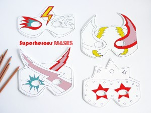 Superheroes masks by La maison de Loulou