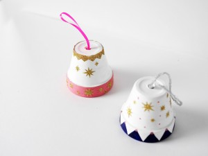 Handmade painted pot ornaments by LA MAISON DE LOULOU
