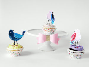 Free Printable Bird Toppers by La Maison de LOULOU