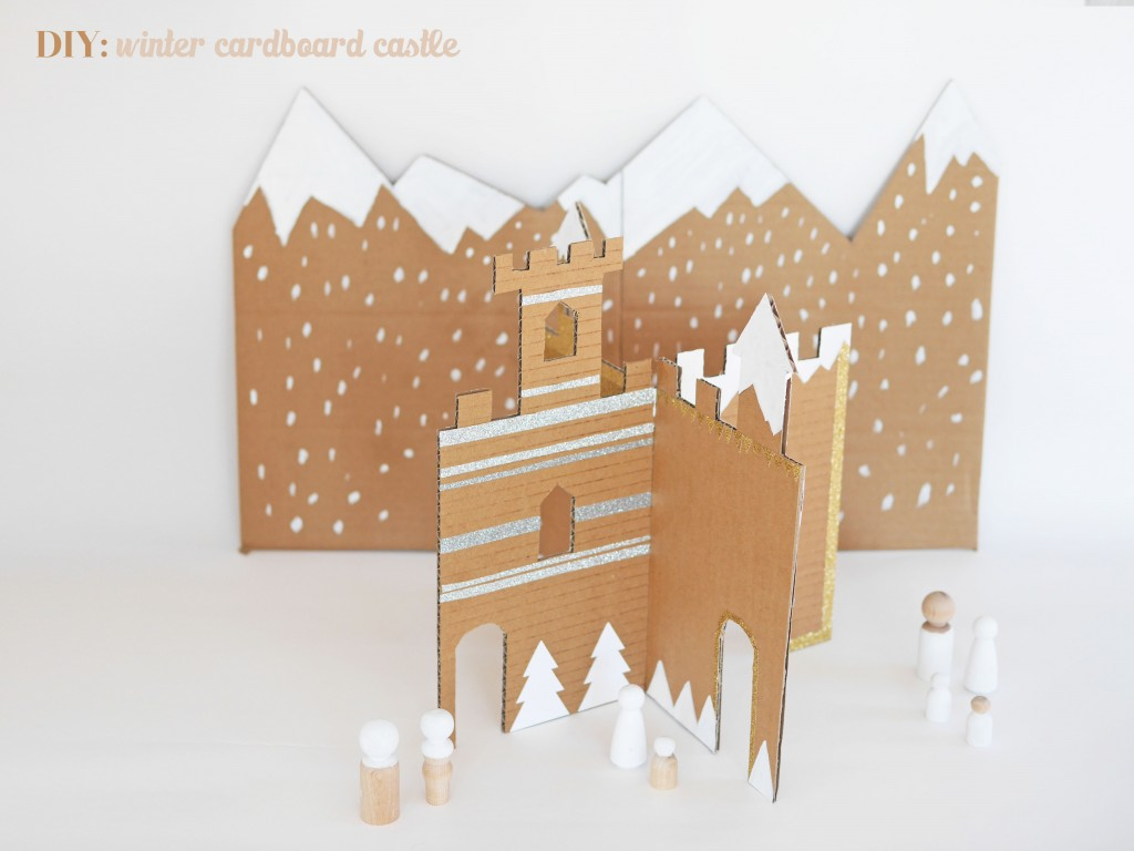 DIY winter cardboard castle by La maison de Loulou