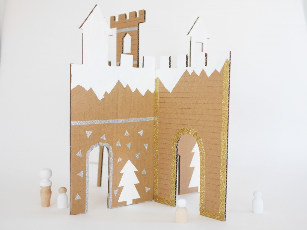 Diy And Free Printable Winter Cardboard Castle