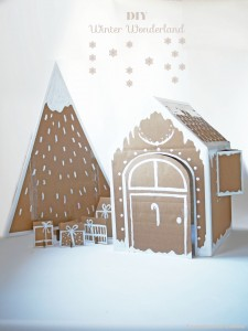 Xmas house & tree by La maison de Loulou