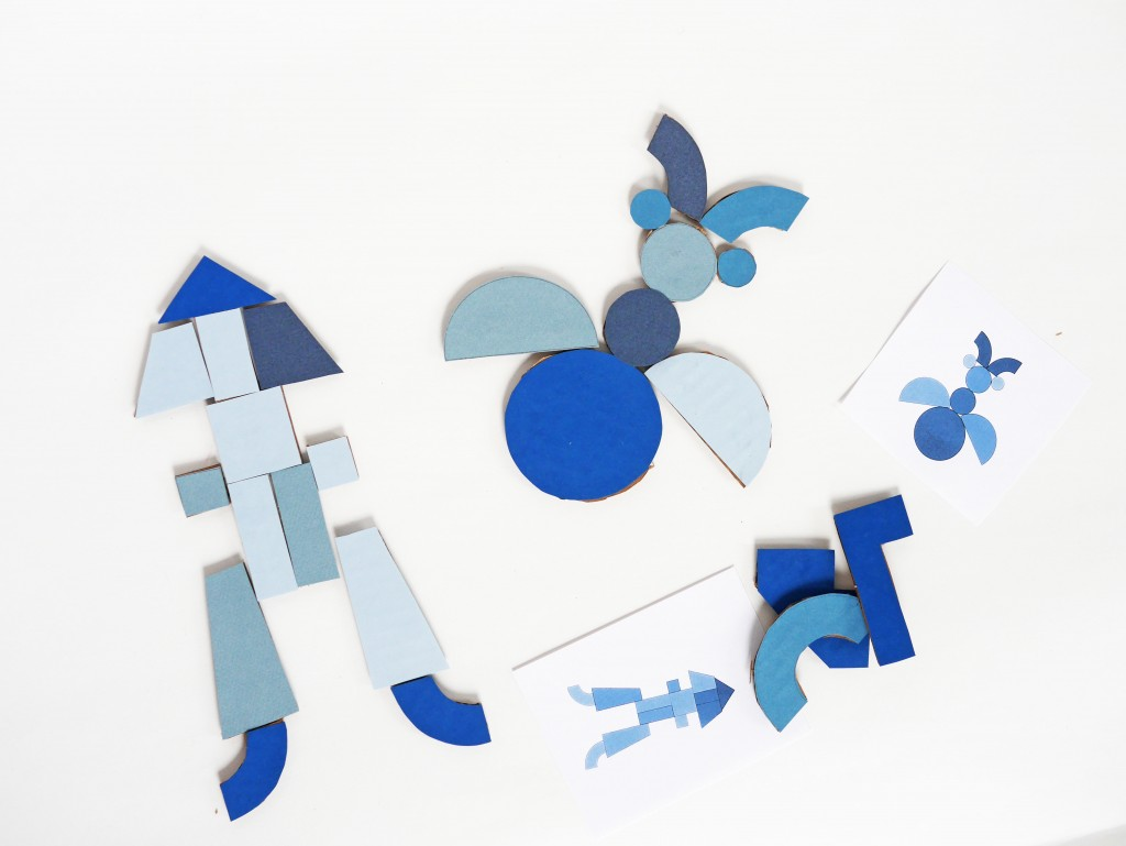 DIY geometric shape game by La maison de Loulou for Handmade Charlotte