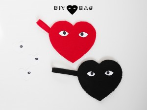 DIY heart pouch by La maison de Loulou for Hello Wonderful