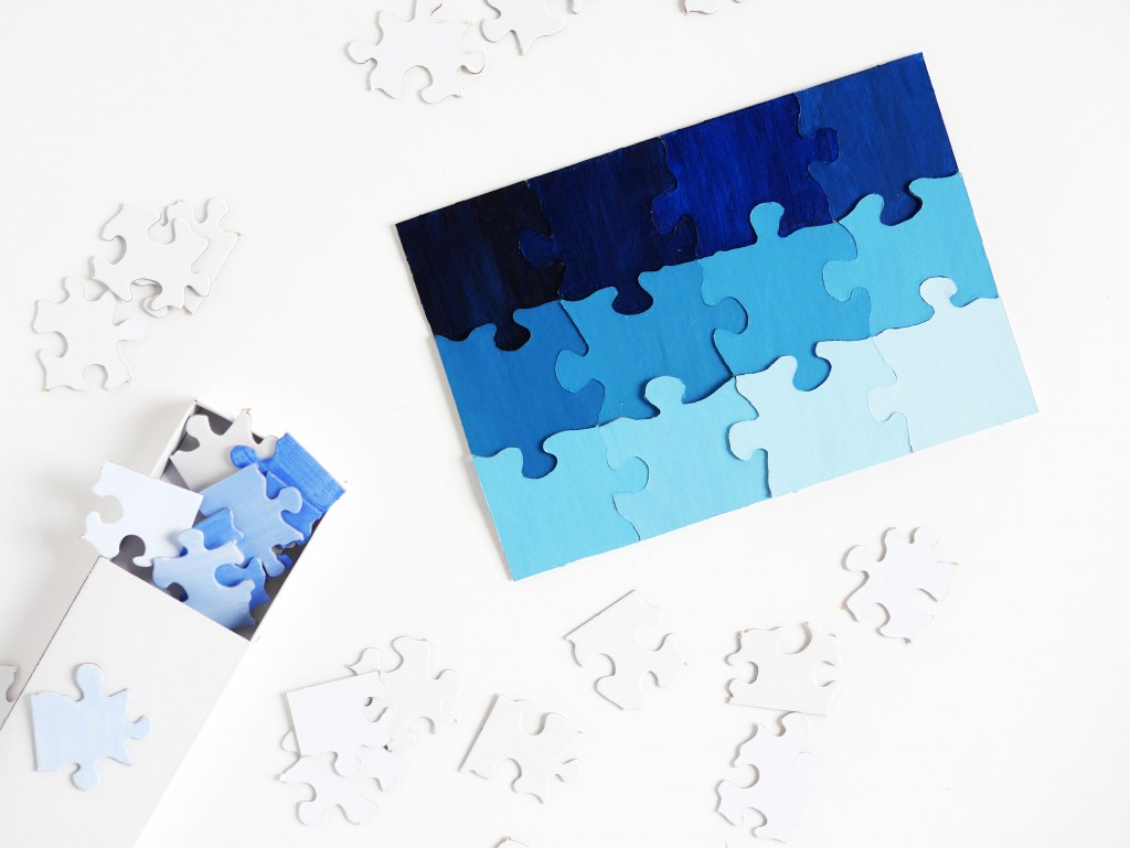 DIY travel size shading puzzle by La maison de Loulou