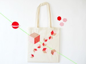 Tote bag Cosmic for Miss-Etc by La maison de Loulou-1