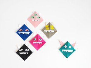 DIY Origami Paper Monsters by La maison de Loulou