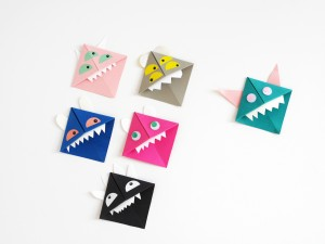 DIY Origami Paper Monster by La maison de Loulou