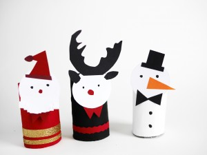 Free Printable Christmas paper figurines by La maison de Loulou