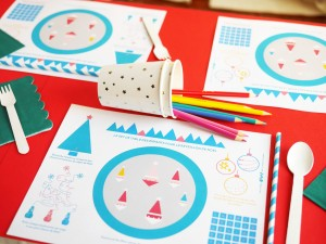 Interactive FREE PRINTABLE Christmas Placemat by LA MAISON DE LOULOU