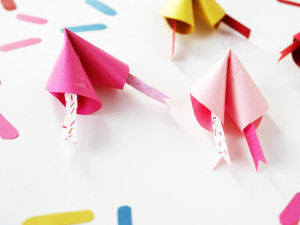 Colorful Paper Fortune Cookies by La maison de Loulou