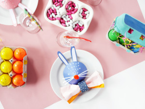 paper-crafted Bunny Heads by LA MAISON DE LOULOU