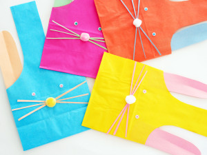 ADORABLE DIY PAPER BUNNY TREAT BAGS by LA MAISON DE LOULOU