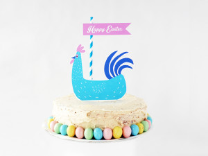 EASTER HEN CAKE TOPPER from LA MAISON DE LOULOU x MR.PRINTABLES