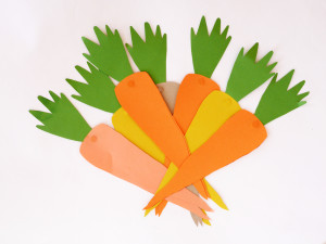 HANDCRAFTED EASTER CARROT CARDS by LA MAISON DE LOULOU