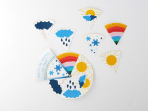 weather learning wheel with a free printable by LA MAISON DE LOULOU