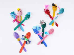 Wooden Spoon Puppets by LA MAISON DE LOULOU