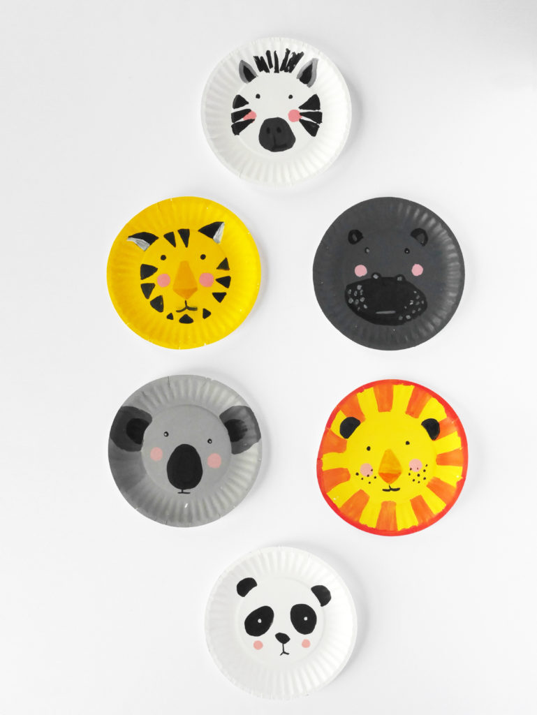 DIY ANIMAL PAPER PLATE FACES by LA MAISON DE LOULOU