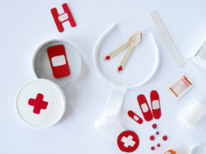 RECYCLED DOCTOR EMERGENCY KIT FOR PRETEND PLAY by LA MAISON DE LOULOU