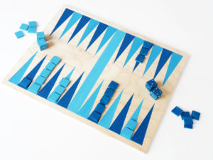 RECYCLED BACKGAMMON GAME FOR SUMMER NIGHTS by LA MAISON DE LOULOU