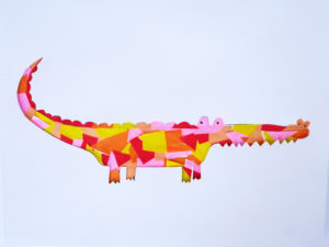 CROCODILES PAPER ART COLLAGE By La maison de Loulou
