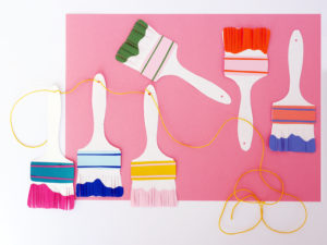 Papercraft Paintbrush Garland by LA MAISON DE LOULOU