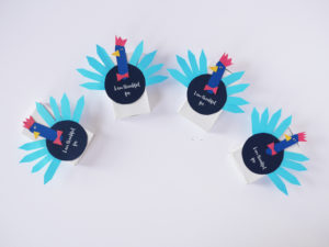 Thankful Paper Craft Turkey Boxes By LA MAISON DE LOULOU