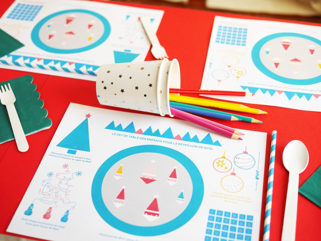 Christmas Eve Interactive Placemat Free Printable